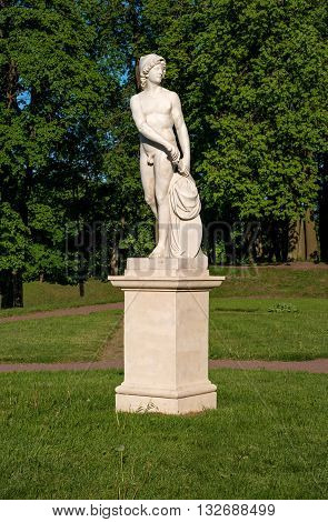Gatchina Palace. Sculpture in the Dutch garden. Allegory - Endeavour.