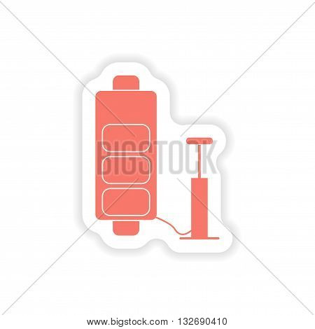 paper sticker on white background  mobile battery charger