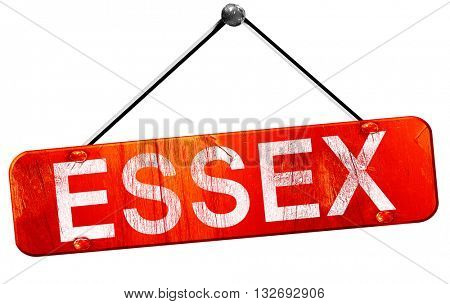 Essex, 3D rendering, a red hanging sign