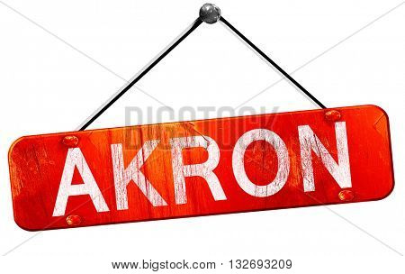 akron, 3D rendering, a red hanging sign