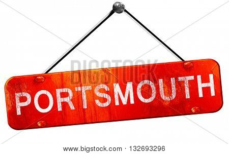 Portsmouth, 3D rendering, a red hanging sign