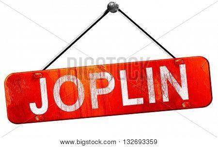 joplin, 3D rendering, a red hanging sign