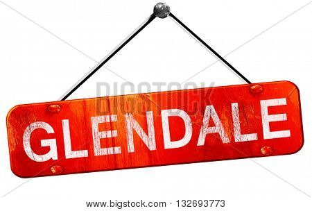 glendale, 3D rendering, a red hanging sign