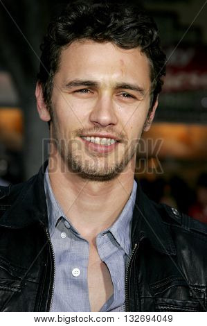 James Franco at the Los Angeles premiere of 'Knocked Up' held at the Mann Village Theatre in Westwood, USA on May 21, 2007.