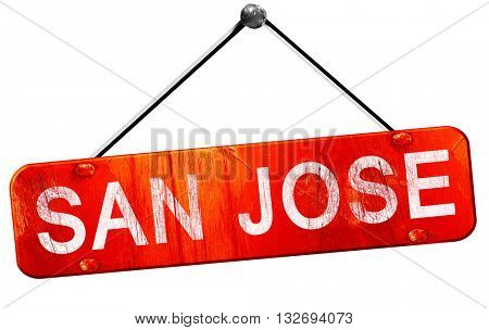 san jose, 3D rendering, a red hanging sign