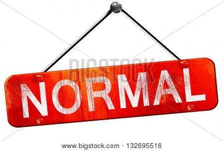 normal, 3D rendering, a red hanging sign