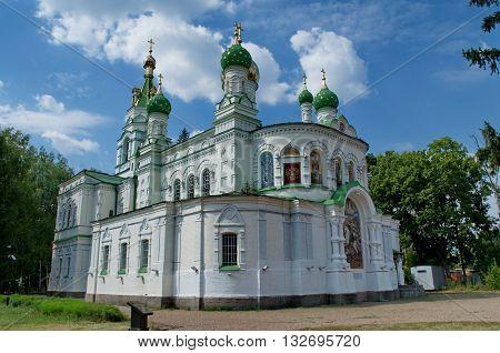 Saint Sampson's Church in Poltava in place the Battle of Poltava. Ukraine