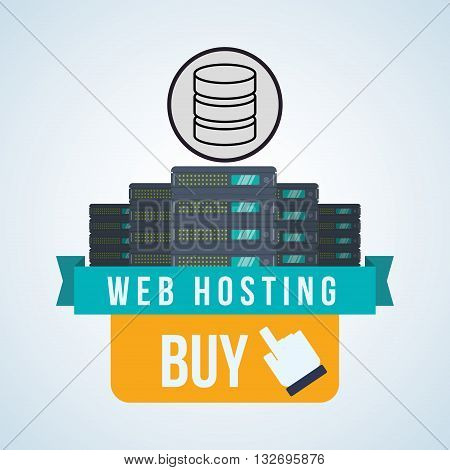Web Hosting concept with icon design, vector illustration 10 eps graphic.