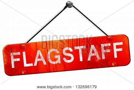 flagstaff, 3D rendering, a red hanging sign