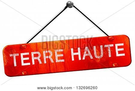 terre haut, 3D rendering, a red hanging sign