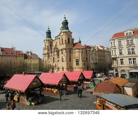 Prague Old Town Square - St Nicholas Church