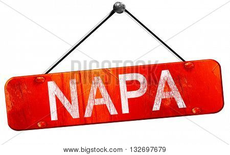 napa, 3D rendering, a red hanging sign
