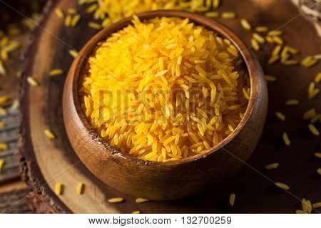 Raw Organic Yellow Saffron Rice