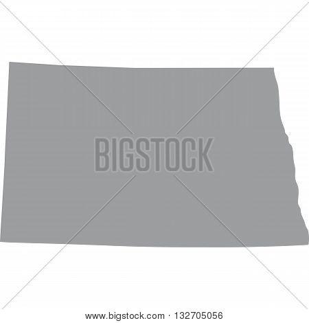 map of the U.S. state of North Dakota
