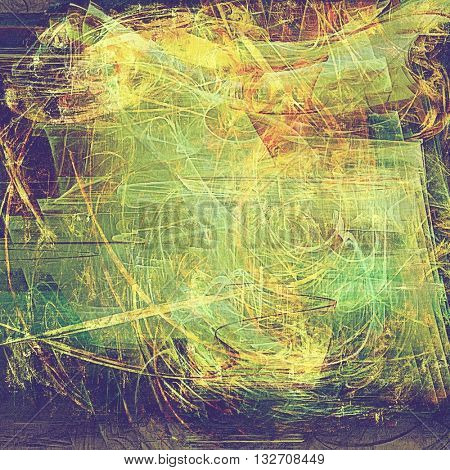 Retro texture, shabby and ragged background in grunge style. With different color patterns: yellow (beige); brown; green; red (orange); purple (violet); gray