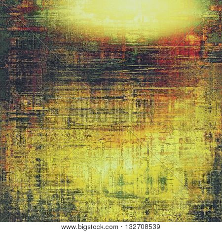 Retro vintage colored background with noise effect; grunge texture with different color patterns: yellow (beige); brown; green; red (orange); black