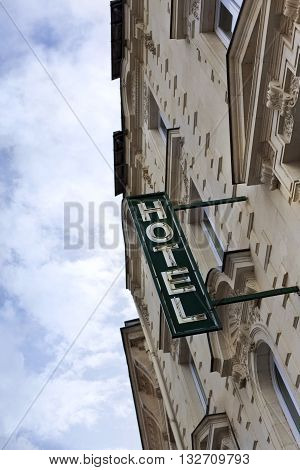 Hotel Facade In Town
