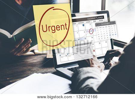 Urgent Prioritize Focus Urgency Importance Concept