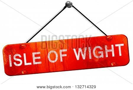 Isle of wight, 3D rendering, a red hanging sign