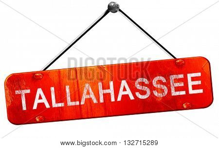 tallahassee, 3D rendering, a red hanging sign