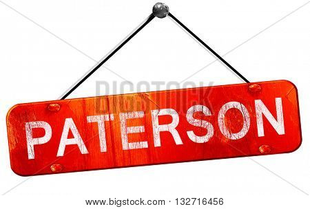 paterson, 3D rendering, a red hanging sign