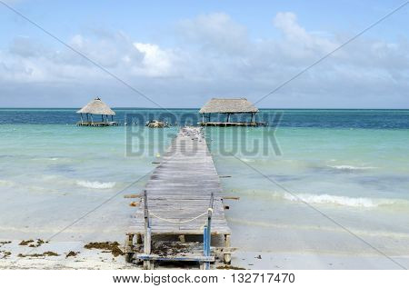 Deck at the beach in Cayo Guillermo - Ciego de Avila Province, Cuba.
