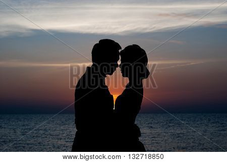 Couple in love.Portrait of a romantic young couple in love.