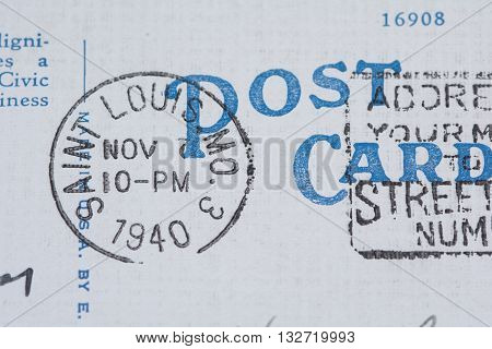 1940 Saint Louis Missouri postmark on postcard