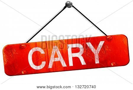 cary, 3D rendering, a red hanging sign