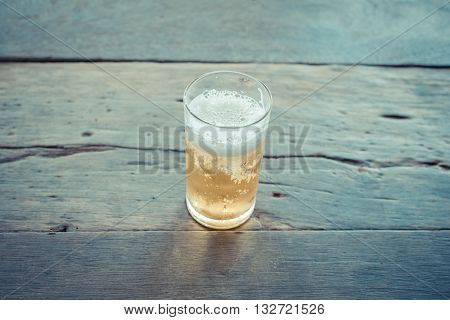 Beer With Ice In Glass