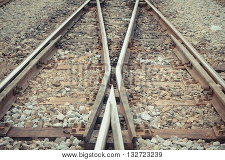 Railroad Tracks Crossing