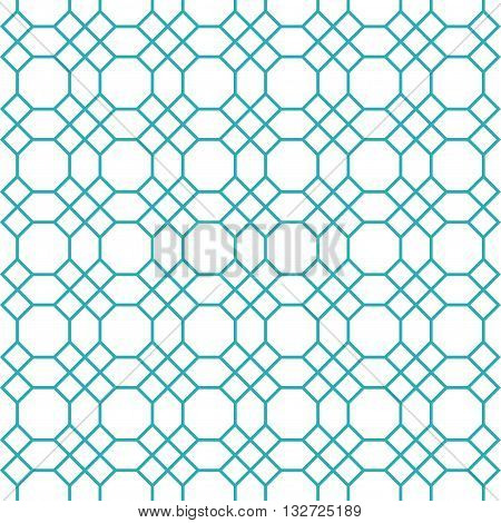 Octagons pattern vector. Octagons seamless pattern. Blue octagon shape pattern background. Octagon and square shape vector pattern. Octagons pattern Elements for design.