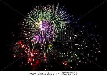 A large Fireworks Display event on night sky