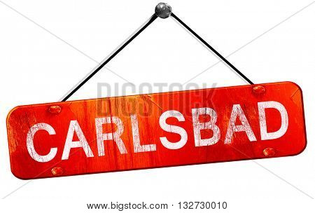 carlsbad, 3D rendering, a red hanging sign