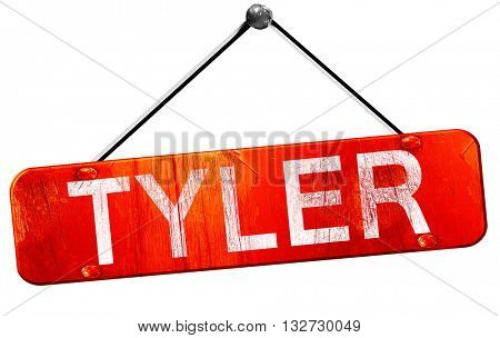 tyler, 3D rendering, a red hanging sign