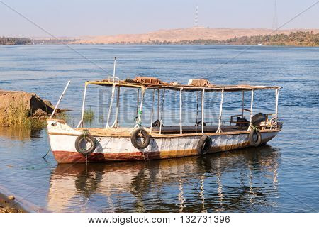 Taxi boat ferry over the Nile, Egypt.