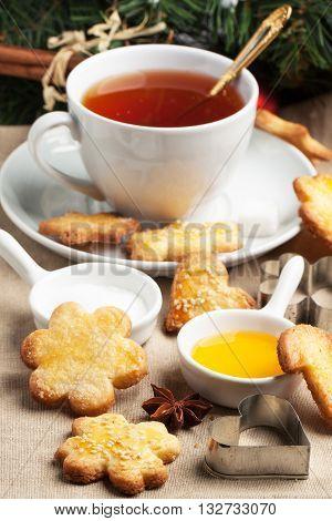 Christmas Sugar Cookies With Black Tea