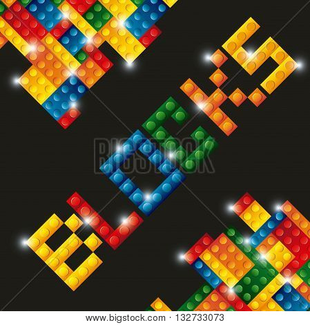 blocks to build design, vector illustration eps10 graphic
