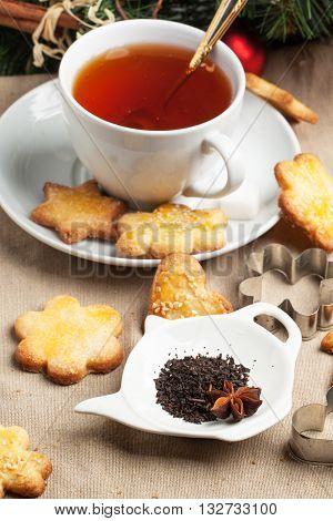 Sugar Cookies With Black Tea