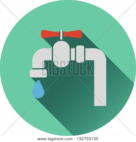 Icon Of Pipe With Valve