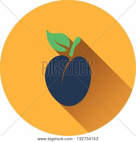 Plum icon ui colors. Flat design. Vector illustration.