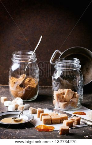 Fudge Candy And Caramel Sause