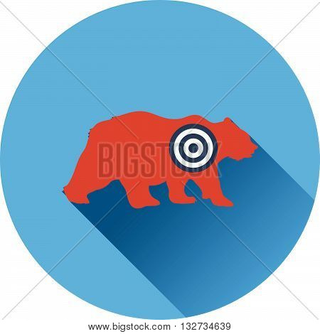Icon Of Bear Silhouette With Target