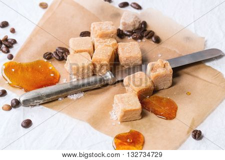 Fudge And Coffee Beans