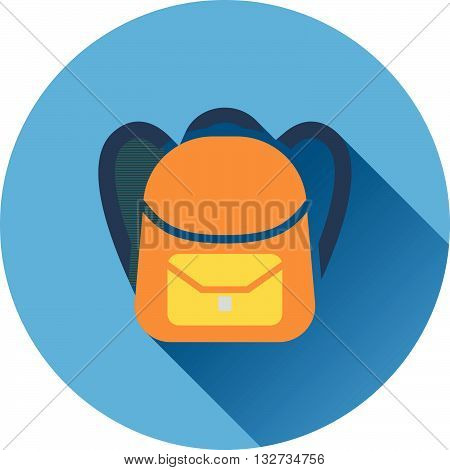 Flat Design Icon Of Graduation Cap In Ui Colors