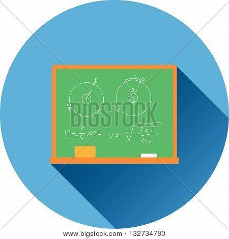 Flat Design Icon Of Classroom Blackboard In Ui Colors