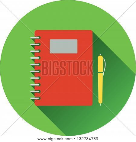 Flat Design Icon Of Exercise Book In Ui Colors
