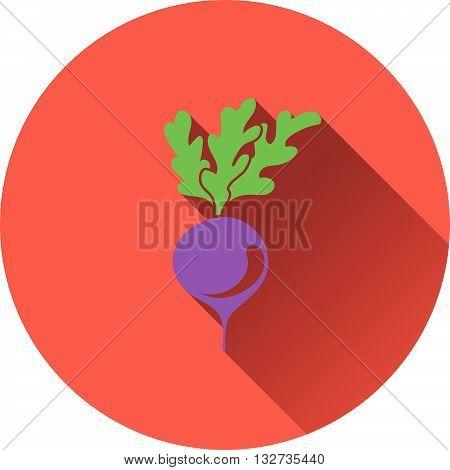 Radishes icon. Flat design ui colors. Vector illustration.