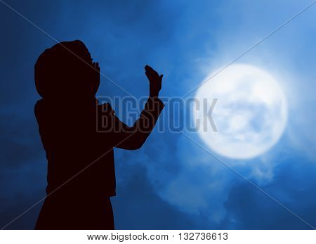 Silhouette Woman Praying