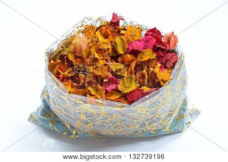 a potpourri sachet isolated on a white background